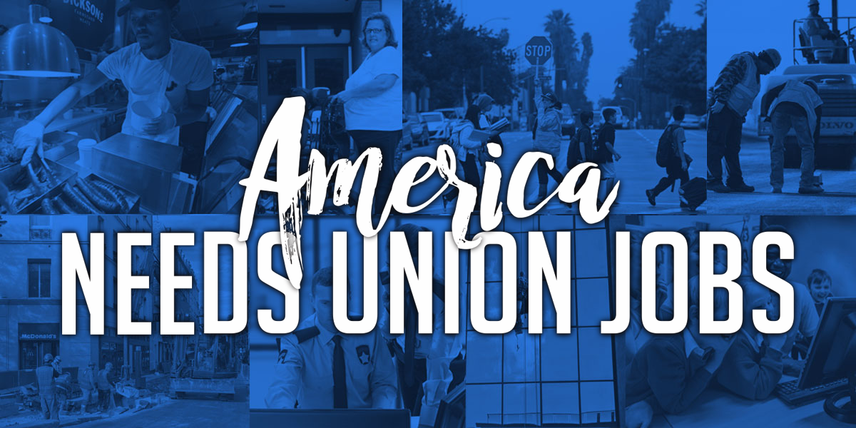 America needs union jobs BLUE